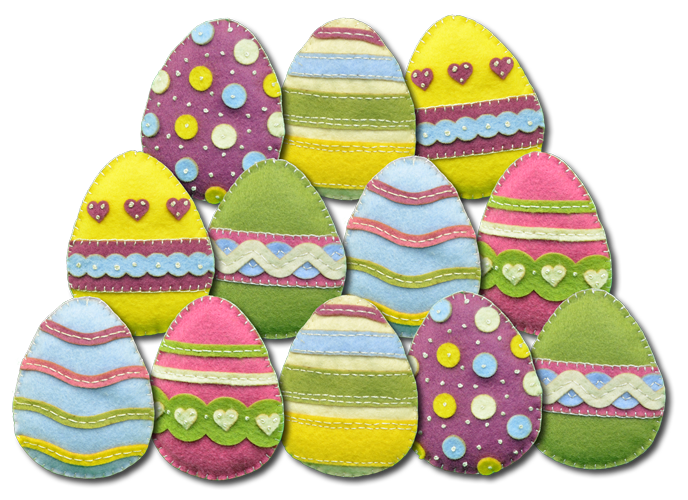 Lumenaris Products Felt Ornaments Easter Ornaments
